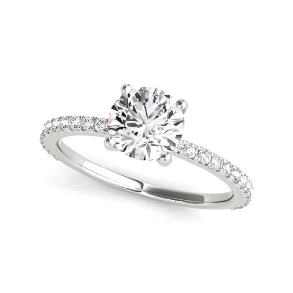 14K White Lab Grown Diamond Engagement Ring Vandenbergs Fine Jewellery Winnipeg, MB