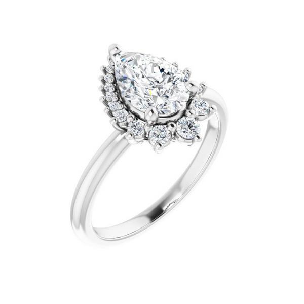 9x6 mm Pear Engagement Ring Mounting Vandenbergs Fine Jewellery Winnipeg, MB