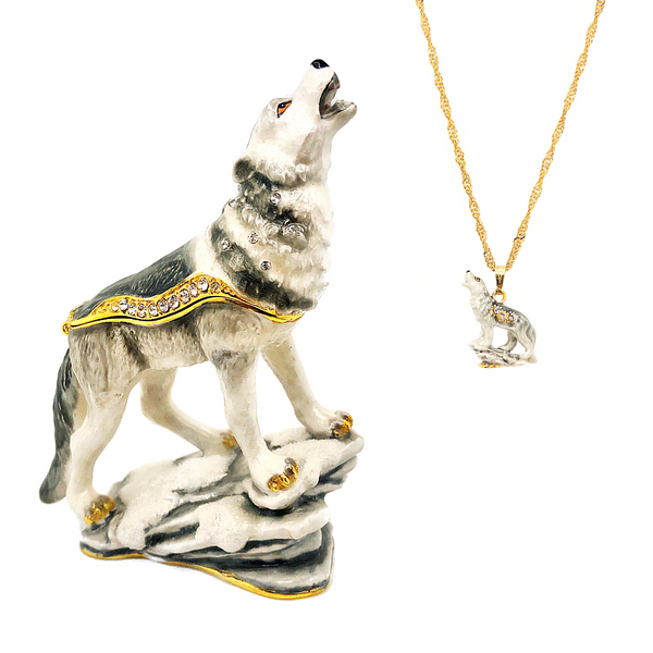 Howling Wolf Trinket box Vandenbergs Fine Jewellery Winnipeg, MB