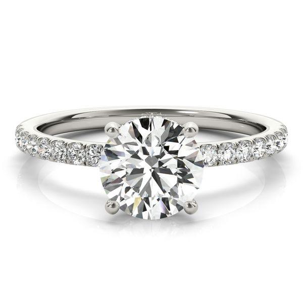 1 3/4 CTW Lab Grown Diamond  Hidden Halo Engagement Ring Image 2 Venus Jewelers Somerset, NJ