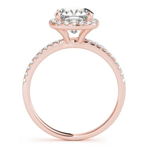 2.00 Carat  Moissanite Cushion Halo Engagement Ring Image 2 Venus Jewelers Somerset, NJ