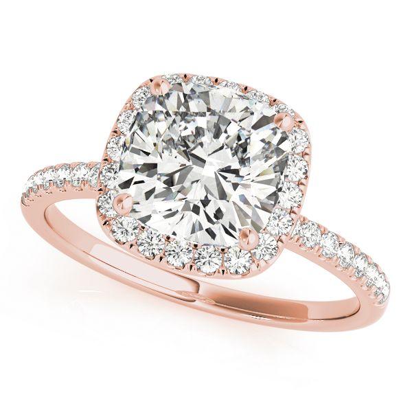 2.00 Carat  Moissanite Cushion Halo Engagement Ring Venus Jewelers Somerset, NJ