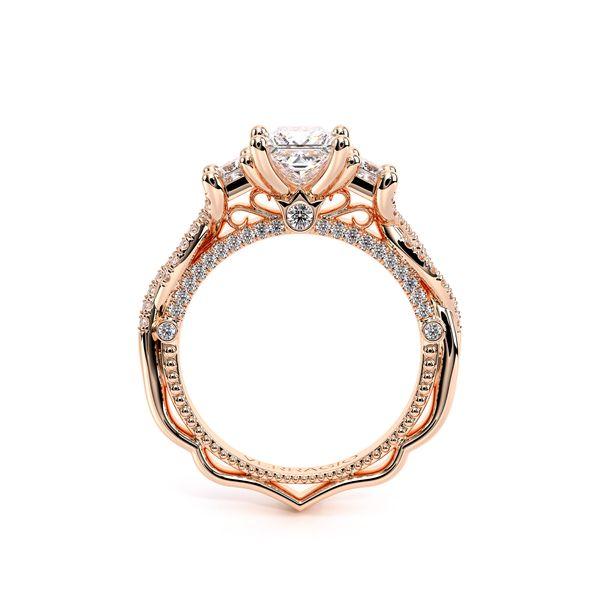 Venetian Three Stone Engagement Ring Image 4 D. Geller & Son Jewelers Atlanta, GA