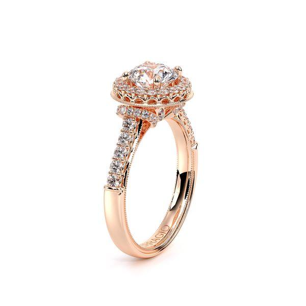 Renaissance Halo Engagement Ring Image 3 SVS Fine Jewelry Oceanside, NY