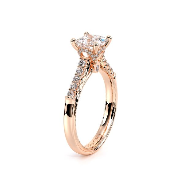 Renaissance Pave Engagement Ring Image 3 SVS Fine Jewelry Oceanside, NY