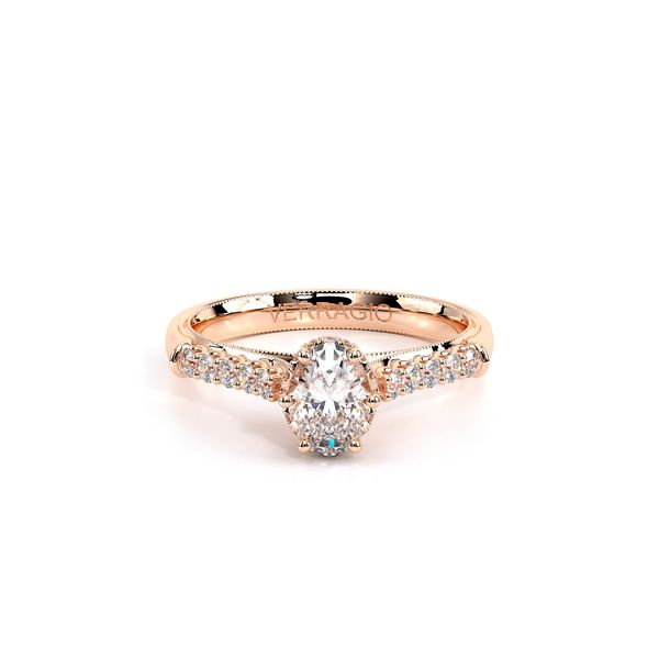 Renaissance Pave Engagement Ring Image 2 SVS Fine Jewelry Oceanside, NY