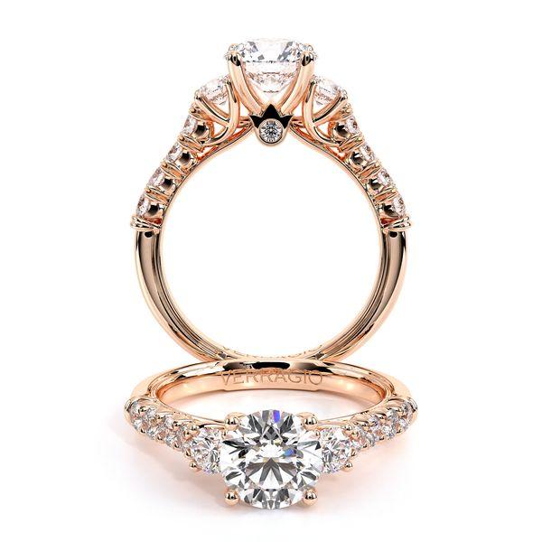 Renaissance Three Stone Engagement Ring D. Geller & Son Jewelers Atlanta, GA