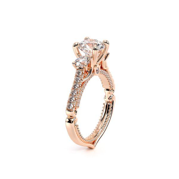 Couture Three Stone Engagement Ring Image 3 D. Geller & Son Jewelers Atlanta, GA