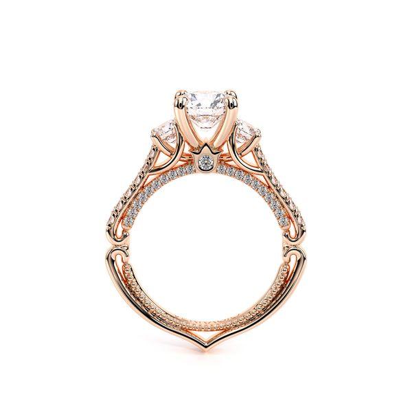 Couture Three Stone Engagement Ring Image 4 D. Geller & Son Jewelers Atlanta, GA
