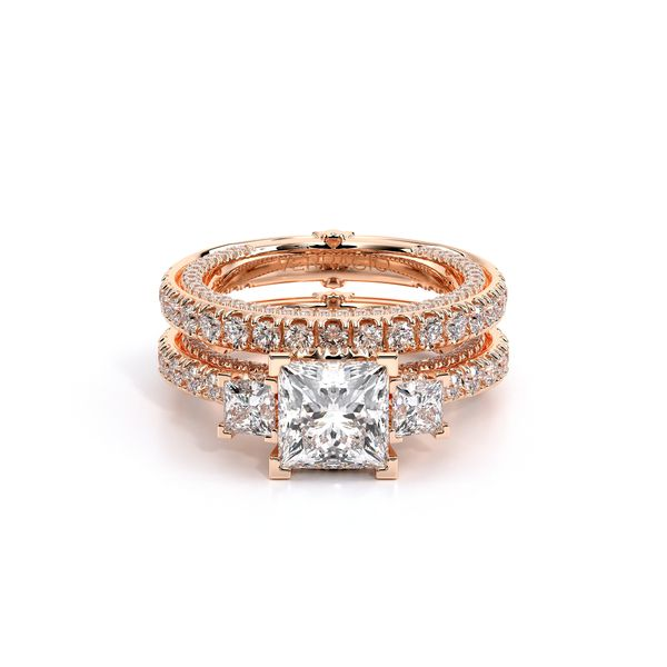 Couture Three Stone Engagement Ring Image 5 SVS Fine Jewelry Oceanside, NY