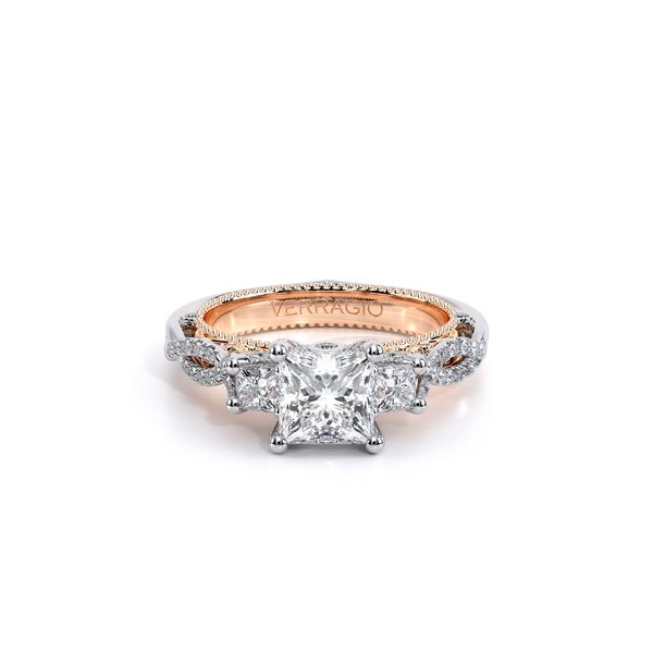 Venetian Three Stone Engagement Ring Image 2 D. Geller & Son Jewelers Atlanta, GA