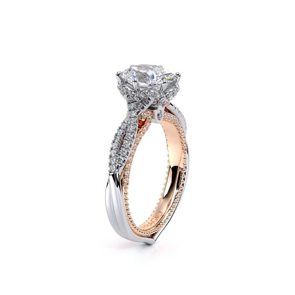 Couture Pave Engagement Ring Image 3 SVS Fine Jewelry Oceanside, NY