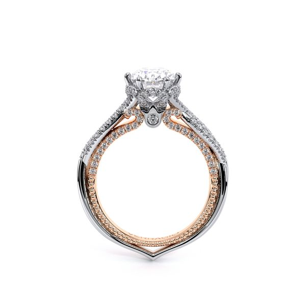 Couture Pave Engagement Ring Image 4 SVS Fine Jewelry Oceanside, NY