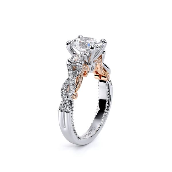Insignia Three Stone Engagement Ring Image 3 SVS Fine Jewelry Oceanside, NY