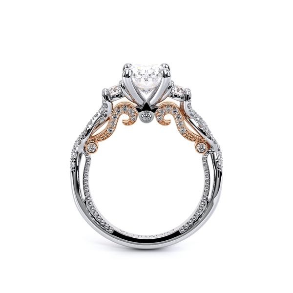Insignia Three Stone Engagement Ring Image 4 SVS Fine Jewelry Oceanside, NY