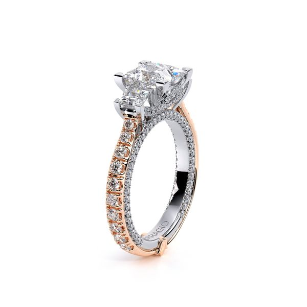 Couture Three Stone Engagement Ring Image 3 SVS Fine Jewelry Oceanside, NY