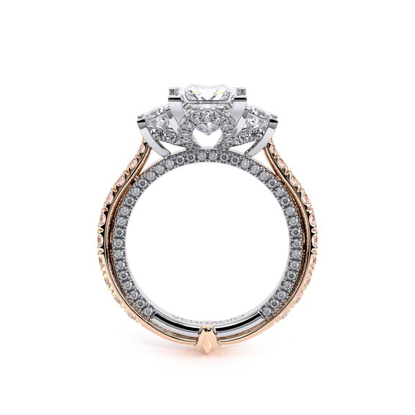 Couture Three Stone Engagement Ring Image 4 SVS Fine Jewelry Oceanside, NY