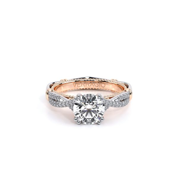 Parisian Pave Engagement Ring Image 2 D. Geller & Son Jewelers Atlanta, GA