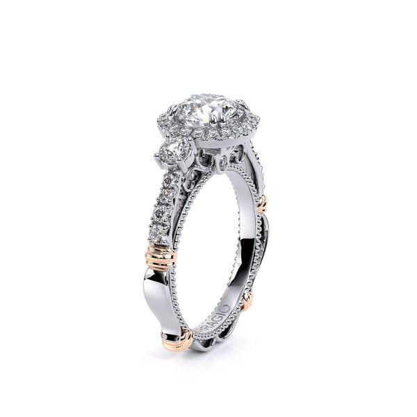 Parisian Three Stone Engagement Ring Image 3 D. Geller & Son Jewelers Atlanta, GA