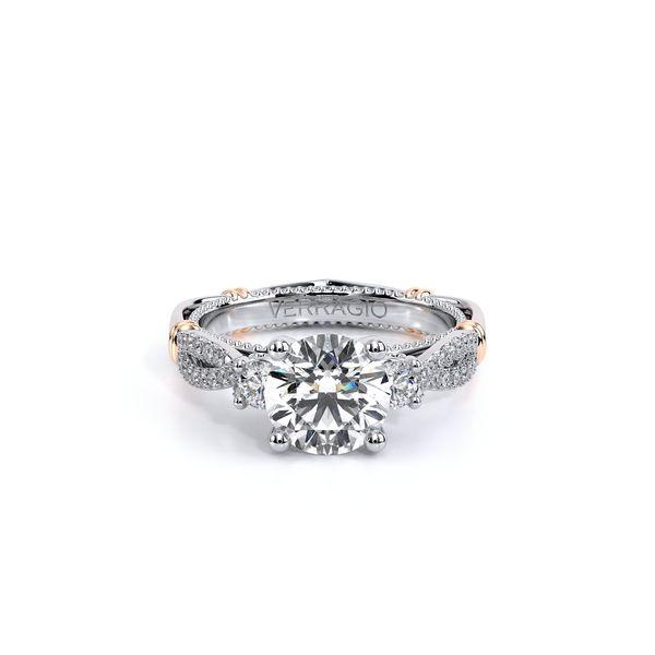 Parisian Three Stone Engagement Ring Image 2 D. Geller & Son Jewelers Atlanta, GA
