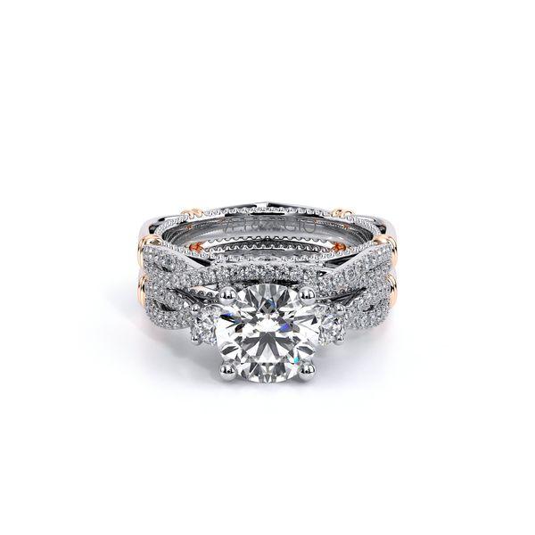 Parisian Three Stone Engagement Ring Image 5 D. Geller & Son Jewelers Atlanta, GA