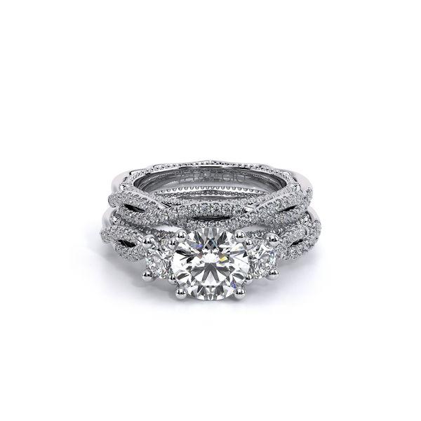 Venetian Three Stone Engagement Ring Image 5 D. Geller & Son Jewelers Atlanta, GA
