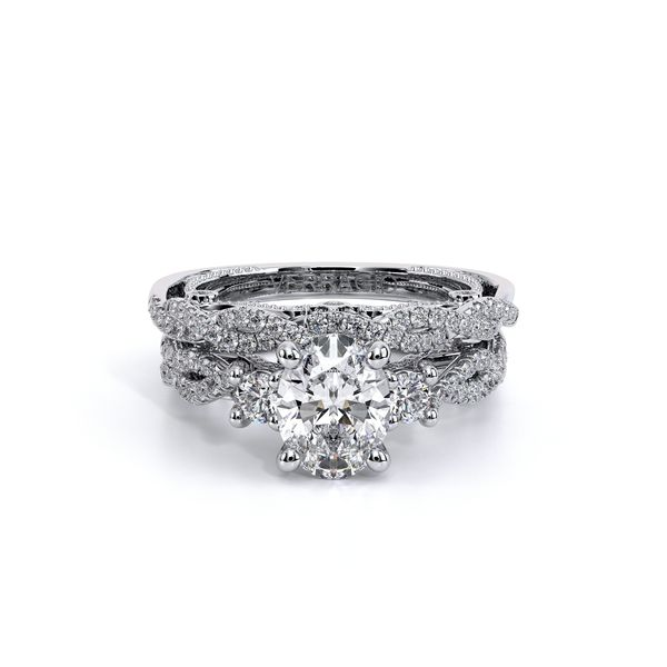Insignia Three Stone Engagement Ring Image 5 SVS Fine Jewelry Oceanside, NY