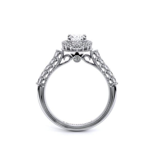 Renaissance Halo Engagement Ring Image 4 SVS Fine Jewelry Oceanside, NY
