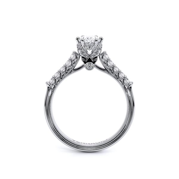 Renaissance Pave Engagement Ring Image 4 SVS Fine Jewelry Oceanside, NY