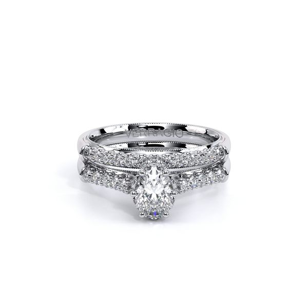 Renaissance Pave Engagement Ring Image 5 SVS Fine Jewelry Oceanside, NY