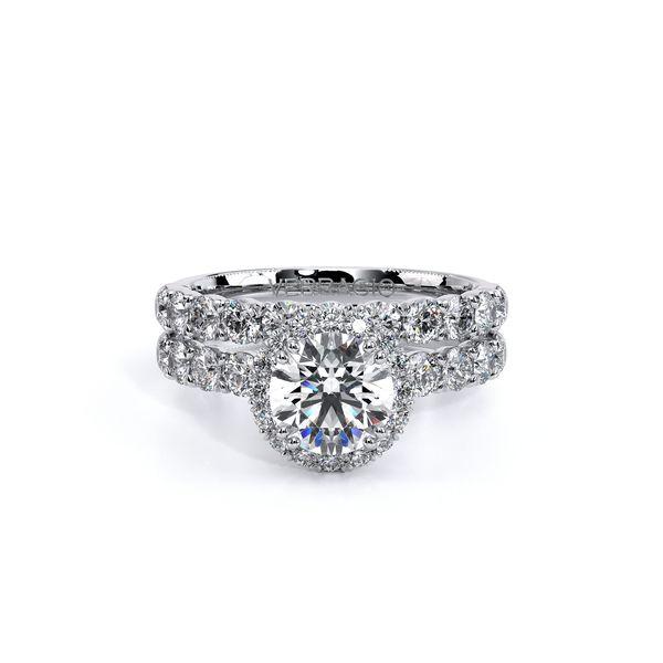 Renaissance Halo Engagement Ring Image 5 SVS Fine Jewelry Oceanside, NY