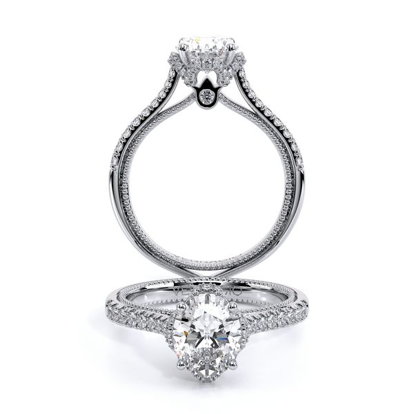 Couture Pave Engagement Ring SVS Fine Jewelry Oceanside, NY