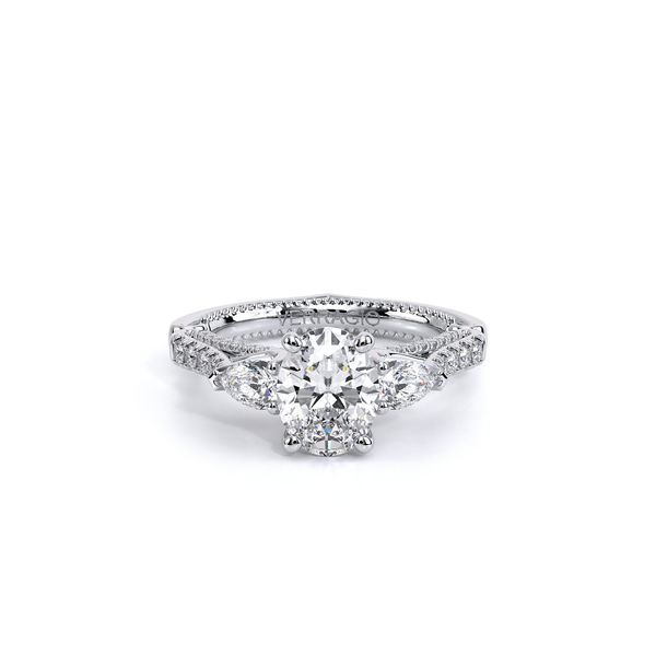 Couture Three Stone Engagement Ring Image 2 SVS Fine Jewelry Oceanside, NY