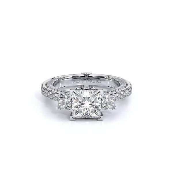 Couture Three Stone Engagement Ring Image 2 D. Geller & Son Jewelers Atlanta, GA