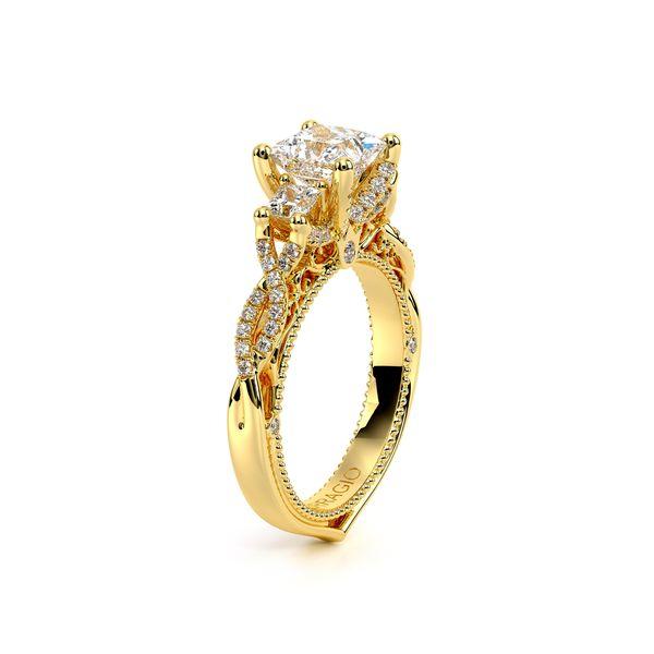 Venetian Three Stone Engagement Ring Image 3 D. Geller & Son Jewelers Atlanta, GA