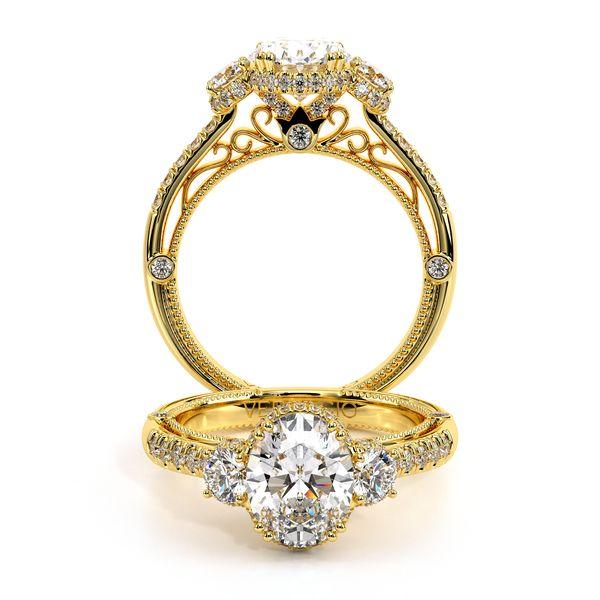 Venetian Three Stone Engagement Ring D. Geller & Son Jewelers Atlanta, GA