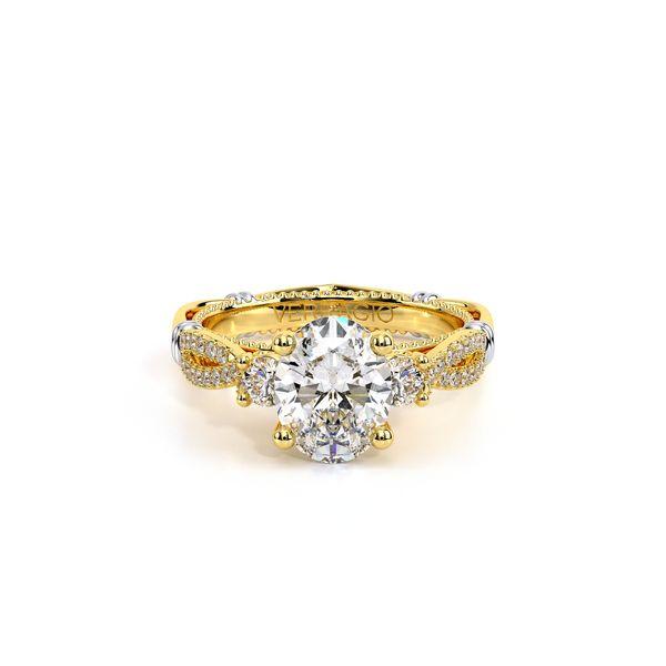 Parisian Three Stone Engagement Ring Image 2 SVS Fine Jewelry Oceanside, NY