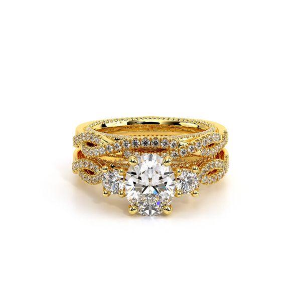 Couture Three Stone Engagement Ring Image 5 D. Geller & Son Jewelers Atlanta, GA