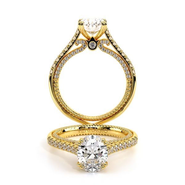 Couture Pave Engagement Ring D. Geller & Son Jewelers Atlanta, GA