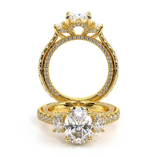 Couture Three Stone Engagement Ring SVS Fine Jewelry Oceanside, NY