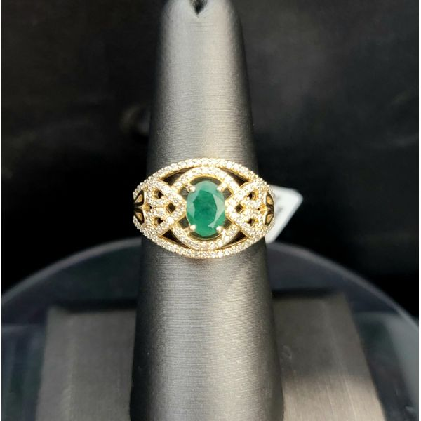Emerald and Diamond Ring Vulcan's Forge LLC Kansas City, MO