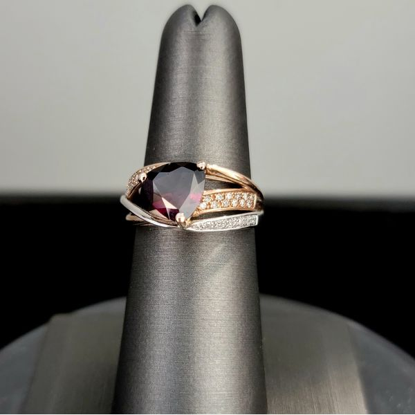 Garnet and Diamond Ring Vulcan's Forge LLC Kansas City, MO