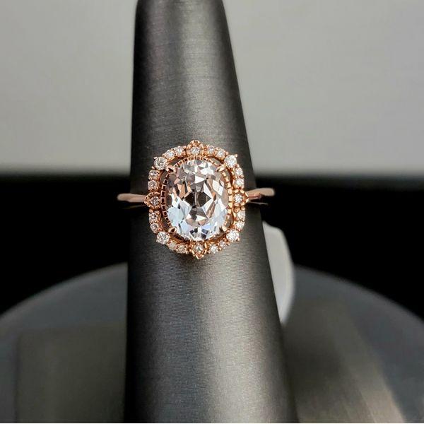 Topaz and Diamond Ring Vulcan's Forge LLC Kansas City, MO