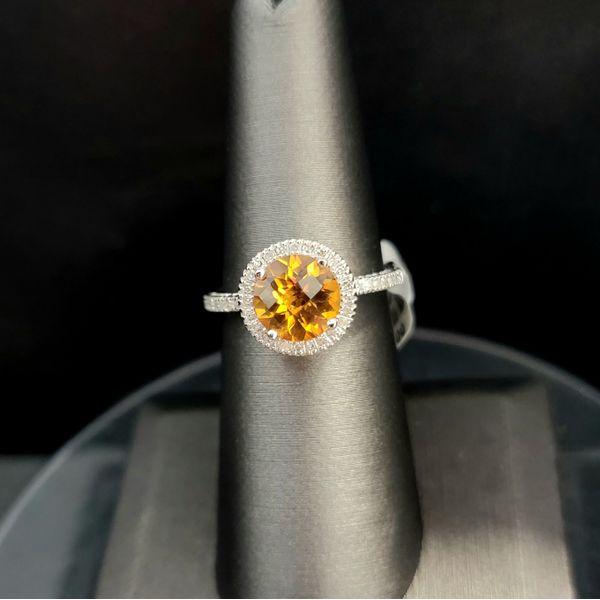 Citrine and Diamond Ring Vulcan's Forge LLC Kansas City, MO