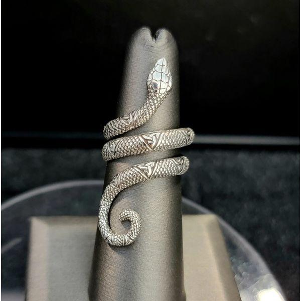 Sterling Silver Snake Ring Vulcan's Forge LLC Kansas City, MO