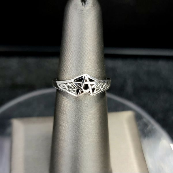Sterling Silver Pentacle Ring Vulcan's Forge LLC Kansas City, MO