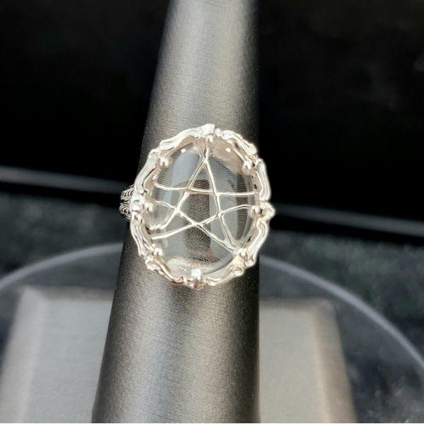 Sterling Silver Pentacle Quartz Ring Vulcan's Forge LLC Kansas City, MO