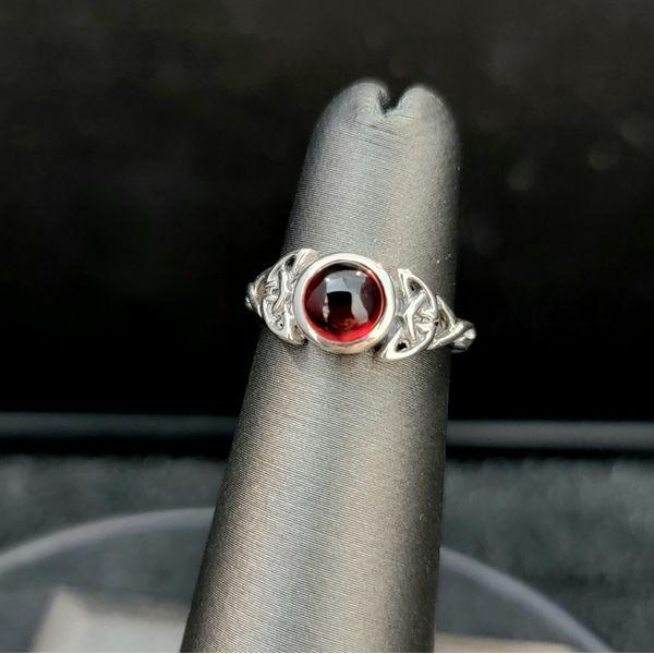 Sterling Silver Triparte Garnet Ring Vulcan's Forge LLC Kansas City, MO