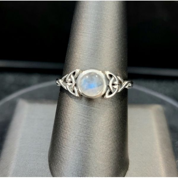 Sterling Silver Triparte Moonstone Ring Vulcan's Forge LLC Kansas City, MO