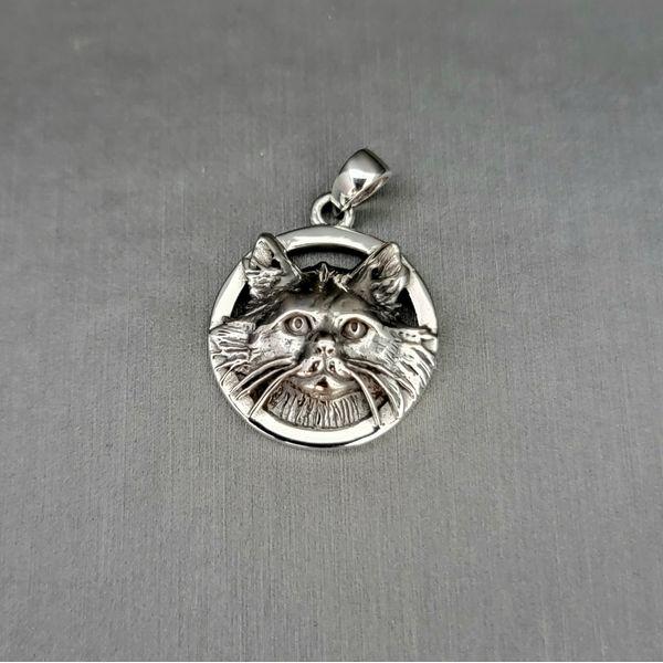 Sterling Silver Cat Pendant Vulcan's Forge LLC Kansas City, MO